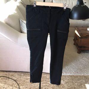 Black loft side zipper pants